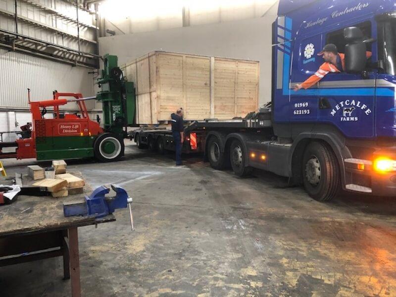Transatlantic freight shipment